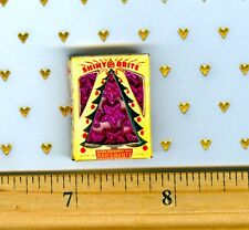 Dollhouse Miniatures Ornament Box for Christmas Holiday PINK STARS!!