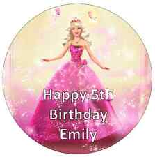 """Barbie Personalised Cake Topper Edible Wafer Paper 7.5"""""""