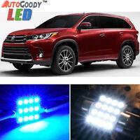 13 x Premium Blue LED Lights Interior Package for Toyota Highlander 14-19 + Tool