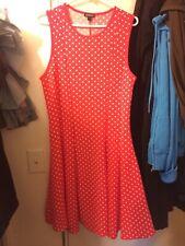 Dress Coral Orange Polka Dot Womens Large