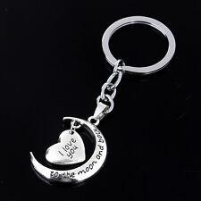 Broken Heart Silver Pendant Keyrings Keychain Key Chain Friendship Family Gif PQ