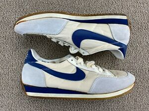 1982 Nike Running Shoes 7.5 Tennis Shoes Blue Gray Leather Nike shirt 80s VTG