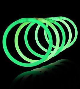 """7 Piece Pack 8"""" Glow Play Plastic Glow Bracelets One Color Glow Sticks"""