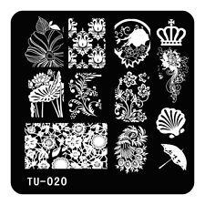 Nail Art Stamping Plates Manicure Tools Unbrella 12 Designs DIY Stencil TU20