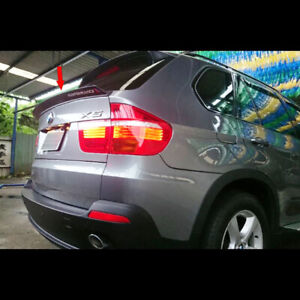 Unpainted L Type Fit For BMW BMW E70 X5 Series Rear Trunk Lip Spoiler 2007-2013