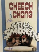 CHEECH AND CHONG Still Smokin signed 12X18 Movie Poster Beckett BAS COA