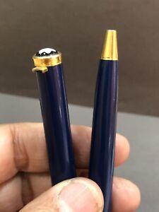 Authentic MONTBLANC GENERATION BLUE And Gold Trims Ballpoint pen BROKEN CLIPP R