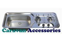 SMEV 911 2 Burner Hob & Sink Combination Unit LH Caravan,Camper van, Boat Cooker