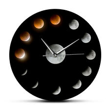 Series of Total Lunar Eclipse Moon Phases Super Moon Celestial Wall Clock