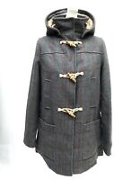 Topshop Wool Check Borg Duffle Coat SIZE UK10 EUR38 US6 RRP £89 New