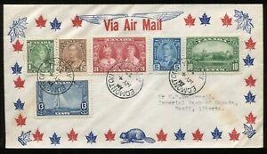 Canada FDC 1935 George V - Silver Jubilee - SET - Edmonton AB Bob of the North