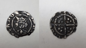 Medieval Hammered Silver Long Cross HALF PENNY UK Metal Detecting Find -  HRCL6