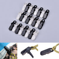 12pcs awning clamp tarp clips snap hangers tent camping survival tighten tool GT