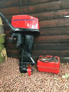 Tomos 10HP outboard engine. 2 Cylinder With Tank And Primer/ Shear pins