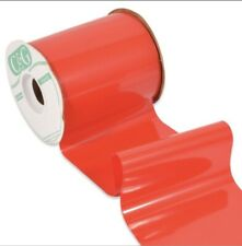 Plastic Shine Red Outdoor Ribbon- 4� Width- 50 Yards/Roll