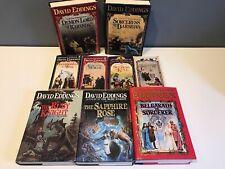 Lot of 9 Fantasy Novels by David Eddings ~ The Malloreon Series Books 1-5 + More