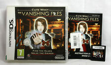 Cate West: The Vanishing Files (Nintendo DS, 2009) 5060015539013