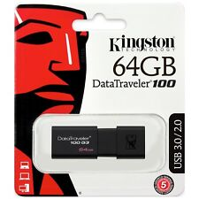 Pendrive 64GB Kingston 64 GB USB 3.0 - DT100G3/64GB