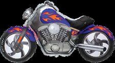 Motocicleta Personalizada Azul Estilo Harley Davidson Moto Bike Globo Grande