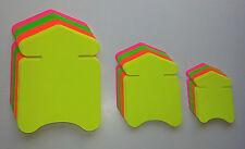 60 Pfeile in 3 Größen Preisschild Set aus Karton Neon Werbung deko Werbesymbole