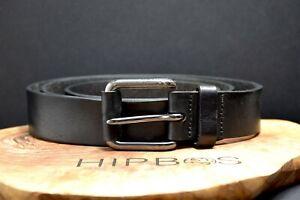 Jack & Jones Mens Leather Jeans Belt Black Size L