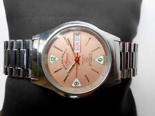 RARE ST Steel Vintage PINK Dial Mens West End Automatic Wrist Watch Sower Prima