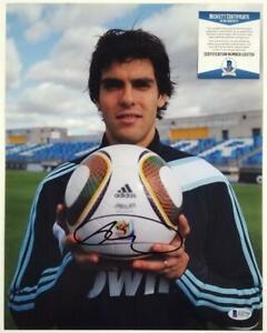 RICARDO KAKA Signed 11x14 Photo AC Milan Real Madrid Brazil B ~ Beckett BAS COA