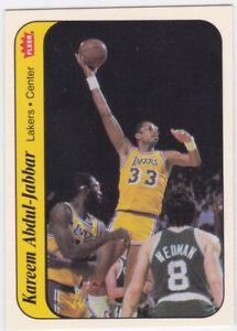 HT: 1986 Fleer Basketball Sticker Card #1 Kareem Abdul-Jabbar - ExMt-NrMt