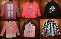 DKNY Girls Long sleeves Pullover Jumper Sweater Sweatshirt T shirt Top 3 6 8 10