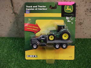 1/64 John Deere Flat Bed Truck And Tractor