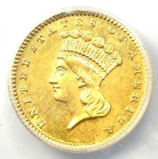 1888 Indian Gold Dollar (G$1 Coin) - Certified ANACS AU58 Details - Rare!