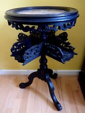 Chinese Asian Carved Dragon Wooden Table.marble top