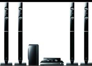 Samsung Home Cinema System HT-D455 4tall speakers subwoofer sound bar Dvd player