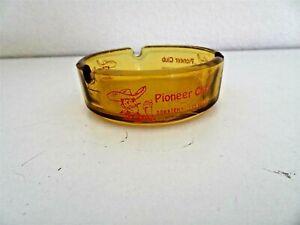 Vintage Pioneer Club Downtown Las Vegas amber ashtray