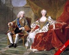 KING PHILLIP V & QUEEN ELIZABETH OF SPAIN PAINTING HISTORY ART REAL CANVAS PRINT