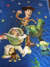 Vintage Disney Toy Story Toddler Bed Cotton Blend Quilt Buzz Lightyear