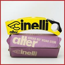 "NOS CINELLI ALTER ONCE YELLOW AHEAD THREADLESS STEM 130mm 1"" INCH VINTAGE ROAD"