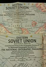 1959 & 1967 National Geographic Magazine Western & Eastern Soviet Union Maps