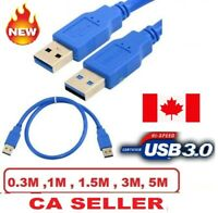 USB 3.0 A Male to A Male USB to USB Cable Cord for Data Transfer Charger Lead CA