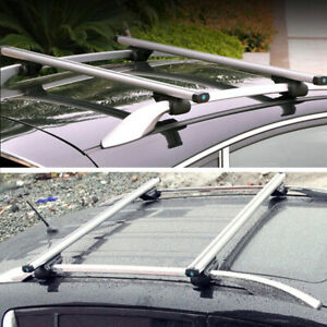 "1 Pair 48"" Cross Bar Top Luggage Roof Rack Cargo Rail Car SUV CNC Aluminum"