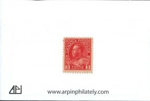 Middlesex Stamp, Canada # 109, KGV 3 cent Admiral Issue,  Mint NH, OG.  ct6