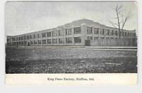 PPC POSTCARD INDIANA KING PIANO FACTORY BLUFFTON INDIANA EARLY 1908 CARD