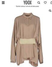 Maison Margiela MM6 Women's Beige Long Sleeve Top Blouse Belt IT 38, UK 6-8