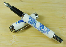 Jinhao 950 Bent Nib Calligraphy Fountain Pen , Chinaware Flying Dragon Pattern