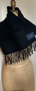 Black Cashmere Scarf Fringed 100% Cashmere NWT club room Mens Or Women's Scarf
