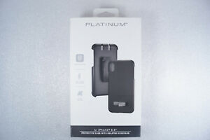 Platinum Holster With Kickstand Black Case for iPhone XS Max - Black PT-MAXLHKB