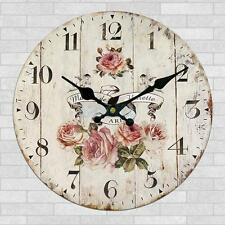 Wall Clock Wooden Rustic Retro Shabby Chic Home Kitchen Decor Art Gifts# 2