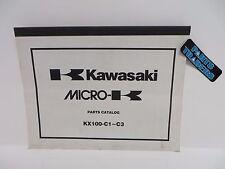 NOS Kawasaki Micro-K Parts Catalog KX100 KX 100 1998 1999 2000 98 99 00