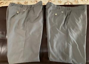 Peter Millar Men's Crown Sport Golf Pants 36x30 Gray Lot Of 2