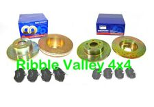 DISCOVERY 2 GROOVED DRILLED BRAKE DISC KIT FRONT AND REAR WITH MINTEX PADS